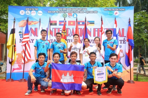 The Cambodian team won the first prize in both sports and culinary competitions