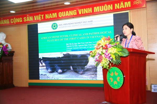 Dr. Bui Thu To Nga from the Faculty of Veterinary Medicine presents: African swine fever clinical and pathological features of the first cases in Vietnam