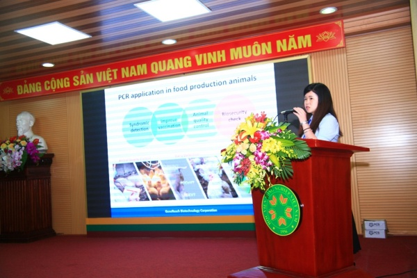 Mrs. Nina Chen, Taiwan Gen-research Company, gives a presentation at the conference
