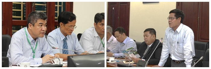The two parties discuss about collaboration potentials between VNUA and MRF