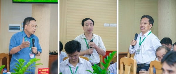 VNUA's leaders and staff raise their concerns on environmental issues.