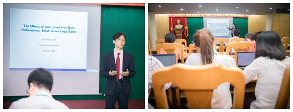 Prof. Cho Kyu-bong on his presentation