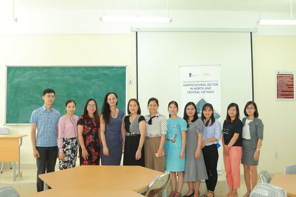 Ms. Monika Sopov with participants on the opening day of the second TOT